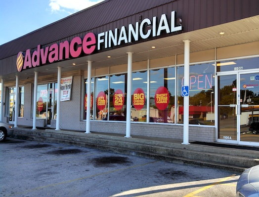 Advance Financial Store on Nashville Highway in Columbia, TN