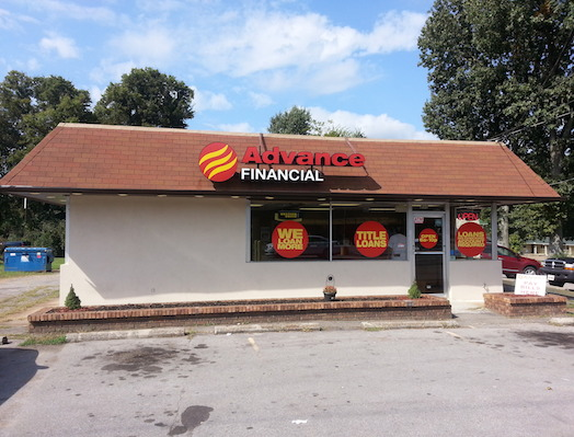 Advance Financial Store on South Main Street in Ashland City