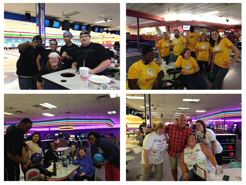 advance financial teams at the Bowl for Kids sake event
