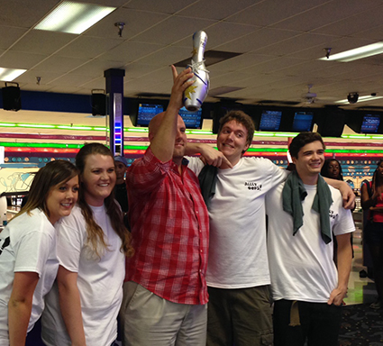 highest team fundraiser at the Advance Financial Bowl for Kids' Sake event