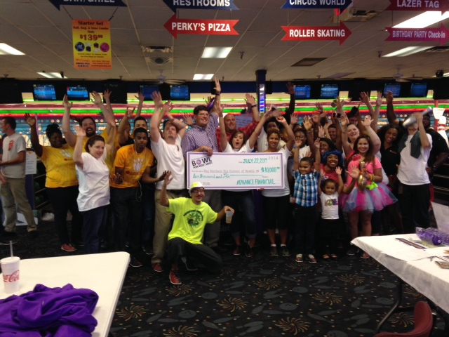 Advance Financial raised $10,000 for Big Brothers Big Sisters at Bowl for Kids' Sake event