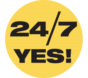 24/7 YES! Sticker