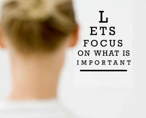 Eye Exam- Lets Focus On What Is Important