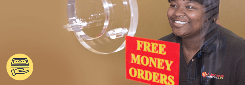 Advance Financial Free Money Order Service