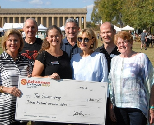 Advance Financial Donation to Conservancy for the Parthenon and Centennial Park