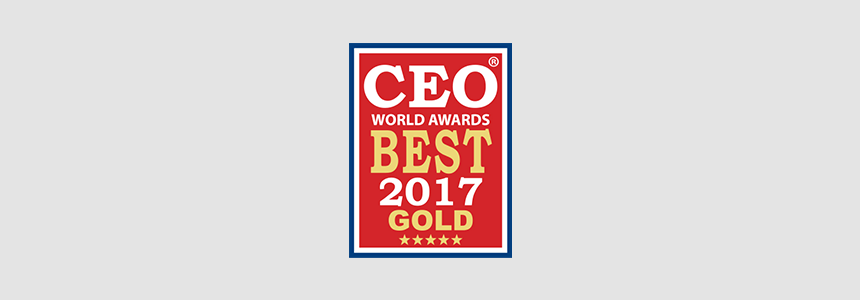 AF Received CEO World Awards Best 2017 Gold