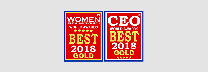 AF Received Gold Award from CEO World in 2018