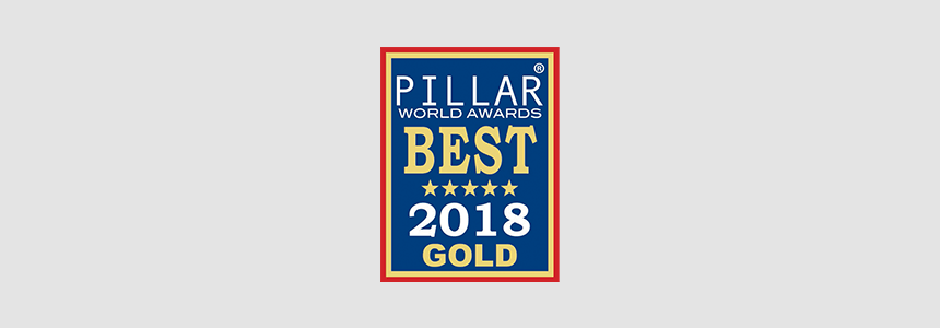 AF Received Pillar Awards Best 2018 Gold