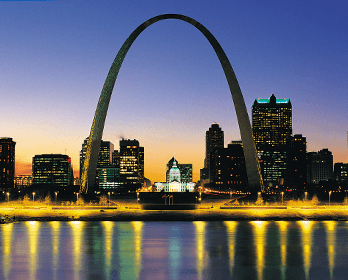 St Louis Arch at sundown Missouri: Online Loans